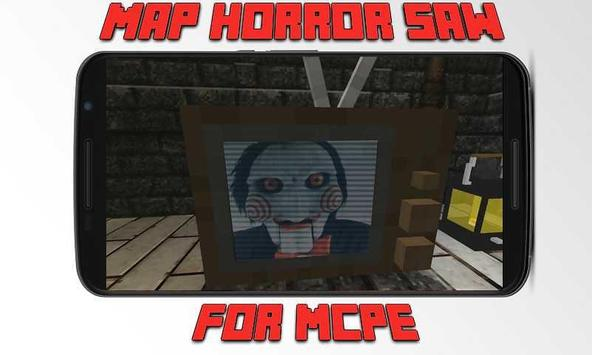 Map Horror Saw for MCPE poster
