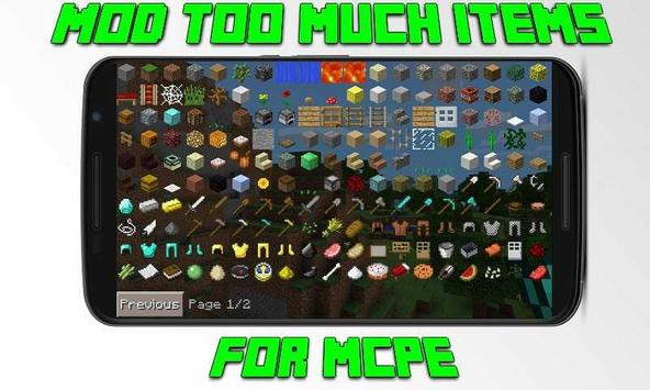 Mod Too Much Items for MCPE poster