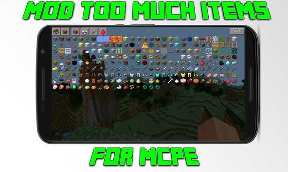 Mod Too Much Items for MCPE apk screenshot