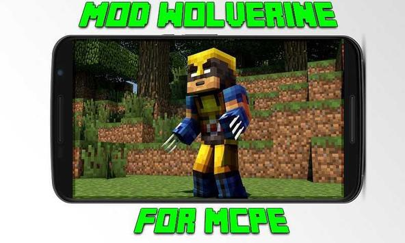 Mod Wolverine for MCPE poster
