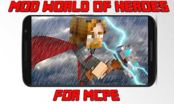 Mod World of Super Heroes for MCPE poster