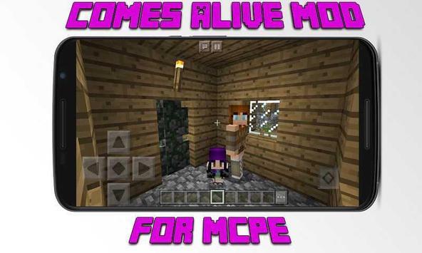 Mod Comes Alive for MCPE poster