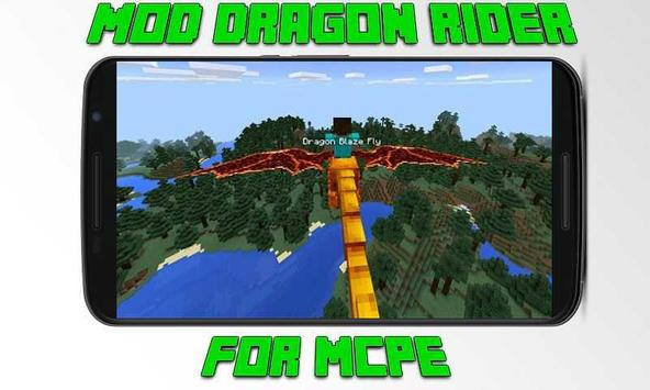 Mod Dragon Rider for MCPE poster