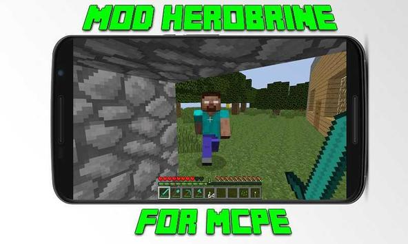 Mod Herobrine for MCPE poster
