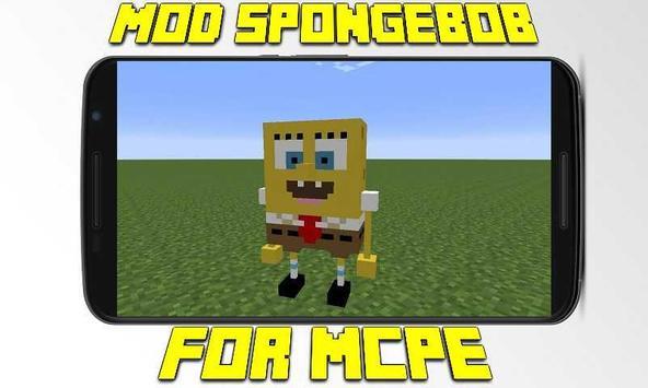 Mod SpongeBob for MCPE poster
