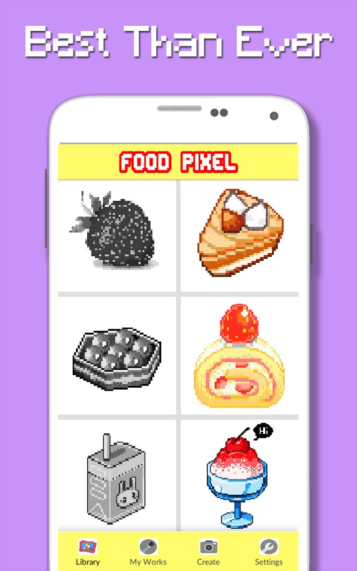 Couleur Des Aliments Par Nombre Pixel Art Pour Android