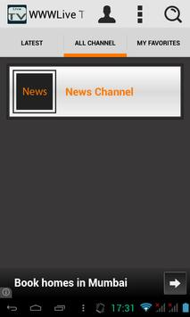 WWWLive TV apk screenshot
