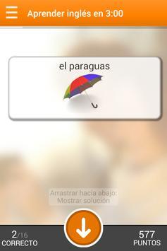 Aprender inglés en 3 minutos apk screenshot