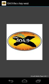 104.9 the x key west poster