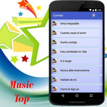 Camela música y letra screenshot 1