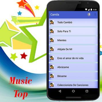 Camila canciones música y letra screenshot 1