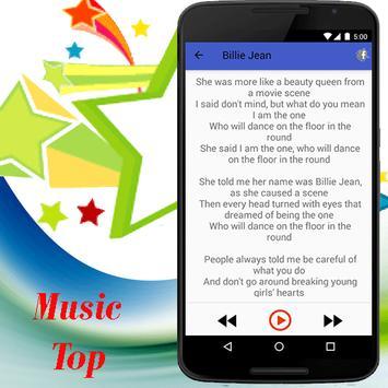Michael Jackson SONGS & LYRICS apk screenshot