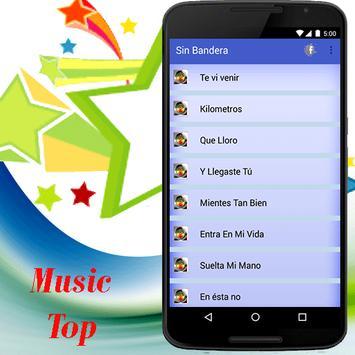 Sin Bandera música Que Lloro apk screenshot
