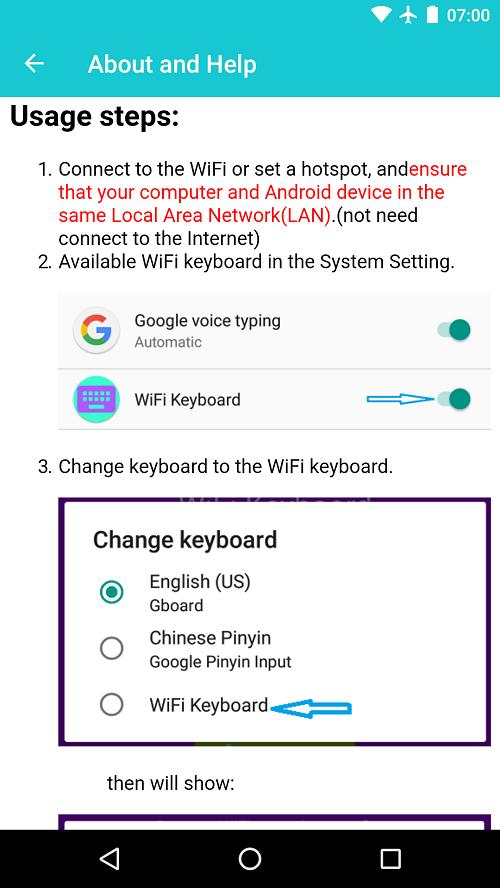 WiFi Keyboard - type from PC for Android - APK Download