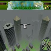Adventure flying bird icon