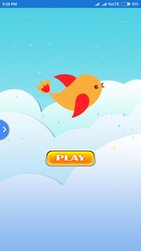 Adventure flying bird poster