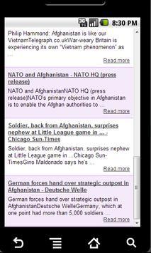 Afghanistan news apk screenshot