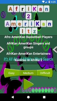 Afrikan 2 Amerikan Word Search poster