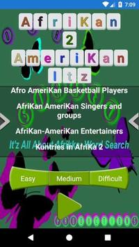 Afrikan 2 Amerikan Word Search screenshot 3
