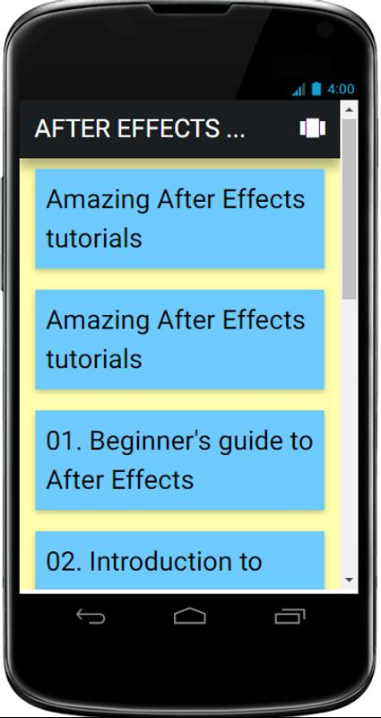 adobe after effects android apk download