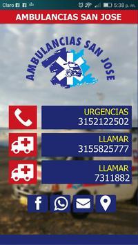 Ambulancias San José // Pasto - Nariño poster