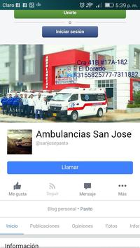 Ambulancias San José // Pasto - Nariño screenshot 1