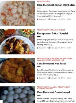 Aneka Resep Masakan Sehari Hari poster