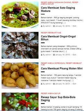 Aneka Resep Masakan Sehari Hari screenshot 1
