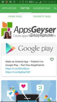 Apps Geyser screenshot 2