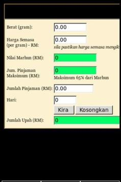 Kalkulator Ar Rahnu screenshot 5
