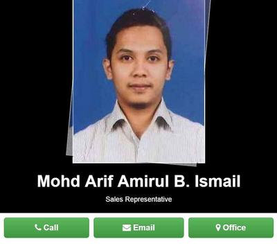 Arif Business Card apk screenshot