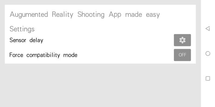 Augmented Reality Shooting App made easy screenshot 1
