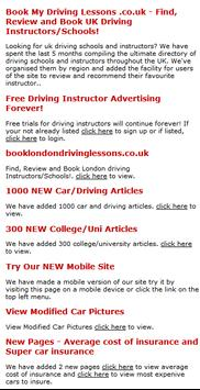 BOOK MY DRIVING LESSONS poster