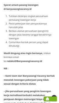 Banyuwangi Vacancy screenshot 6