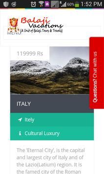 Balaji Vacations screenshot 1