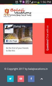 Balaji Vacations screenshot 6
