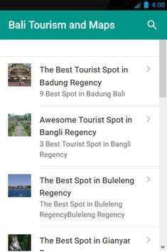 Bali Tourism and Maps screenshot 1