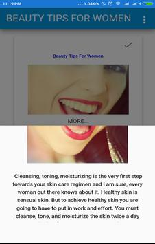 Beauty Tips For Women screenshot 1