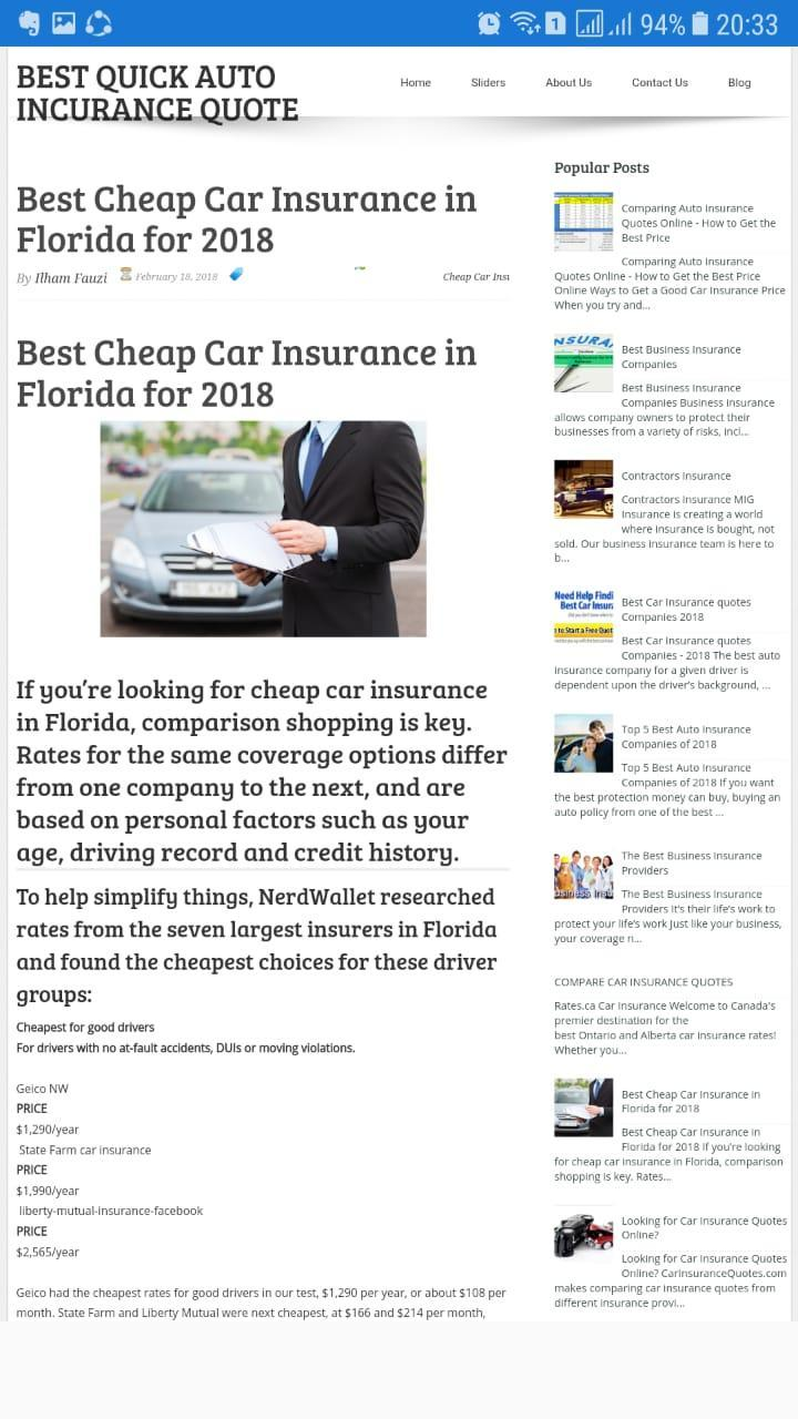 Best Quick Auto Insurance Quotes For Android Apk Download