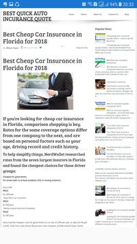 Best Quick Auto Insurance Quotes screenshot 1