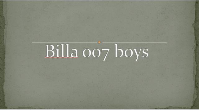 Billa 007 Boys poster