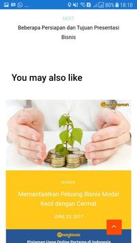 Tips Bisnis Modal Kecil apk screenshot