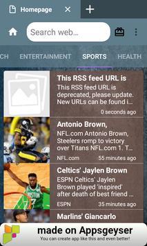 Bluefox Browser apk screenshot