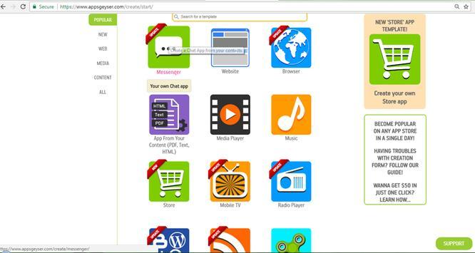 Build App With Websites screenshot 5