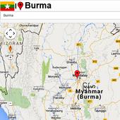 Burma mapas icon