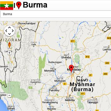 Burma mapas poster