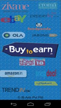 BuyToEarn : Deals and Coupons poster