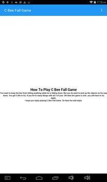 C Bee Fall Game_3812998 apk screenshot