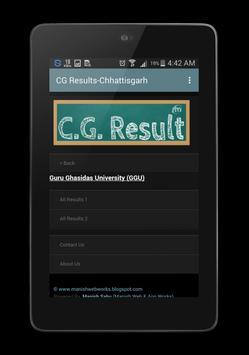CG Results Chhattisgarh-10th,12th,PRSU,CSVTU,BU screenshot 4