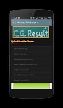 CG Results Chhattisgarh-10th,12th,PRSU,CSVTU,BU poster